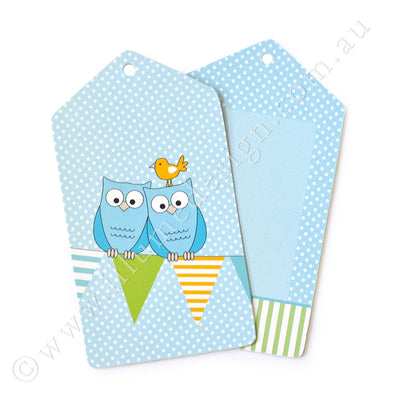 Owl Blue Tag - Pack of 12