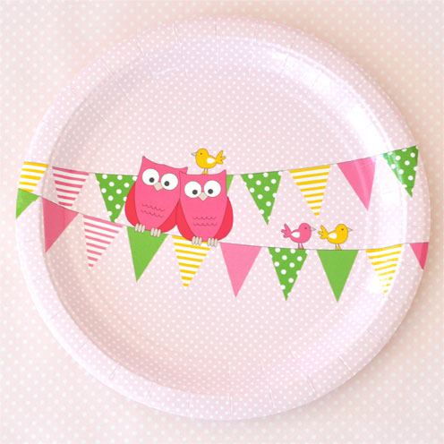 Owl Pink Party Saver Package - 12 Pack