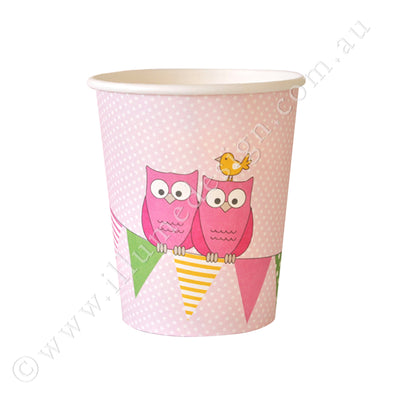 Owl Pink Cup - Pack of 12