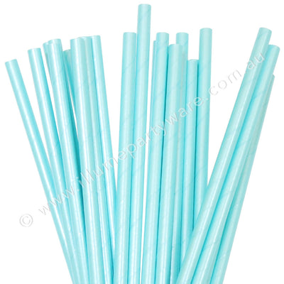 Paper Straws Blue Foil  - Pack of 25