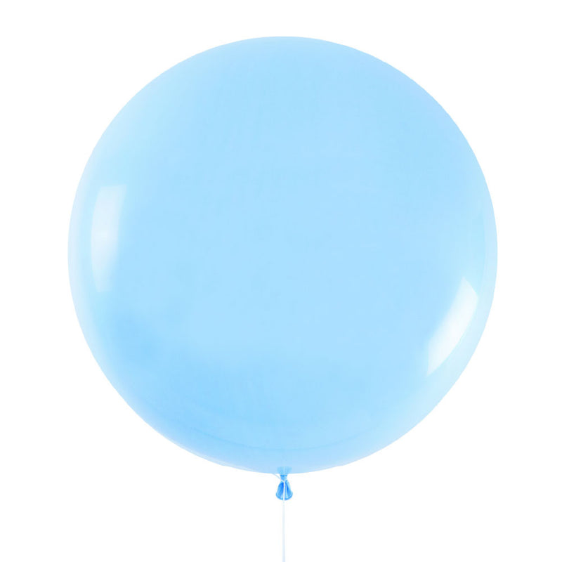 Pale Blue Jumbo Latex Balloon - 90cm - 3ft