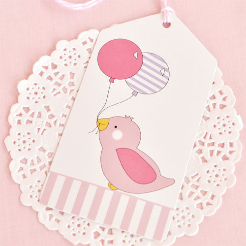 Pink Bird Tag - Pack of 12
