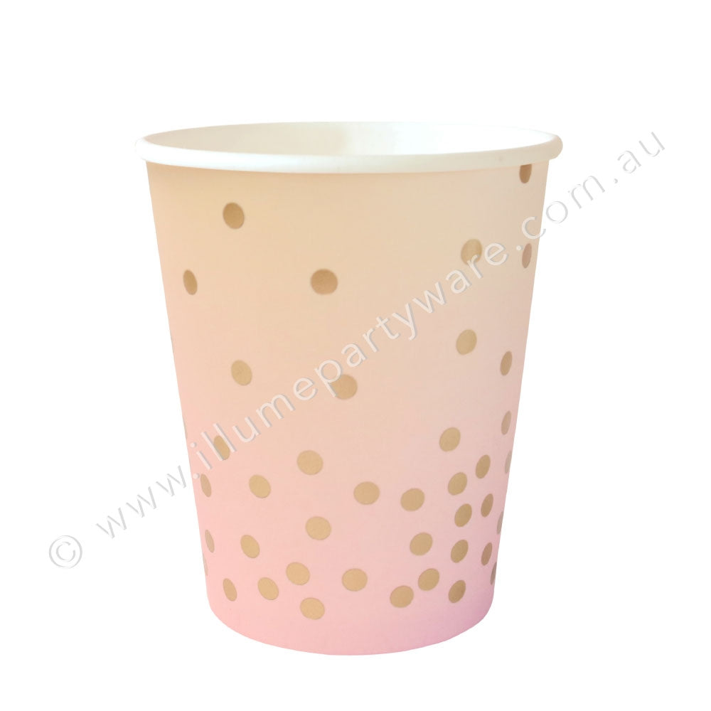 Pink & Peach Cup - Pack of 10, 9OZ (300ml)