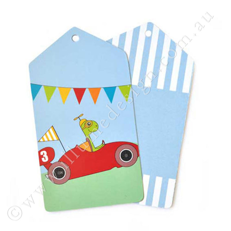 Racing Cars Tag - Pack of 12