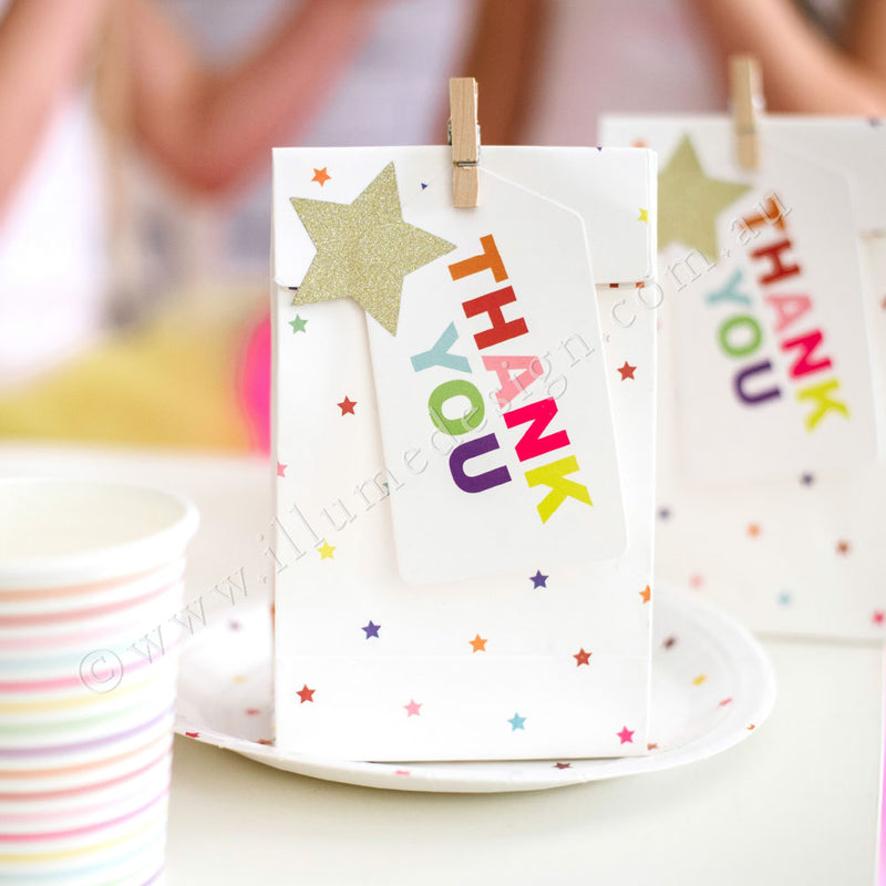 Rainbow Thank You Tag - Pack of 10