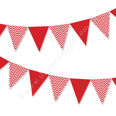 Chevron Red Bunting
