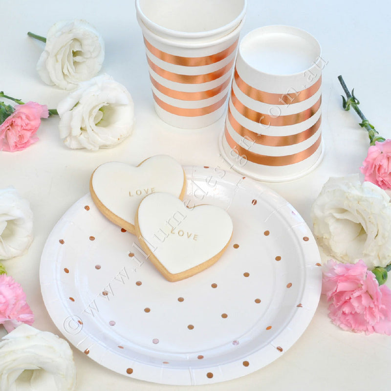 Rose 金Stripes Cup - Pack of 10