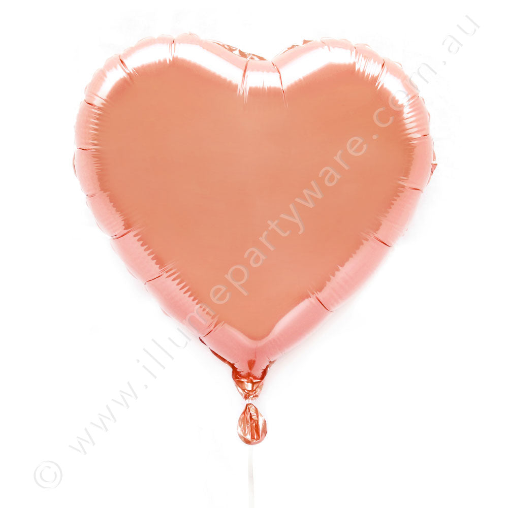 "Rose 金18"" Foil Heart Balloon"