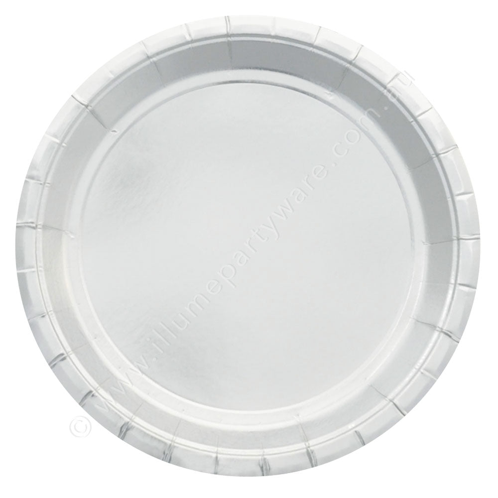 银Foil Large Plate - Pack of 10