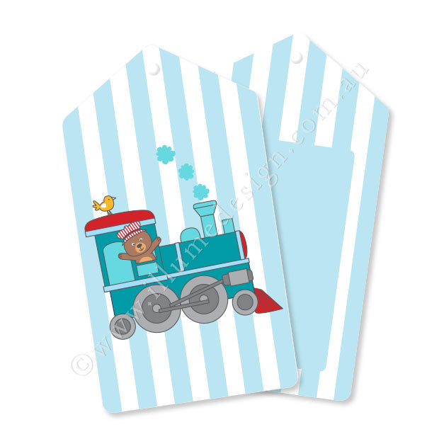 Train Tag - Pack of 12