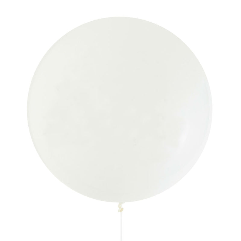 White Jumbo Latex Balloon - 90cm - 3ft