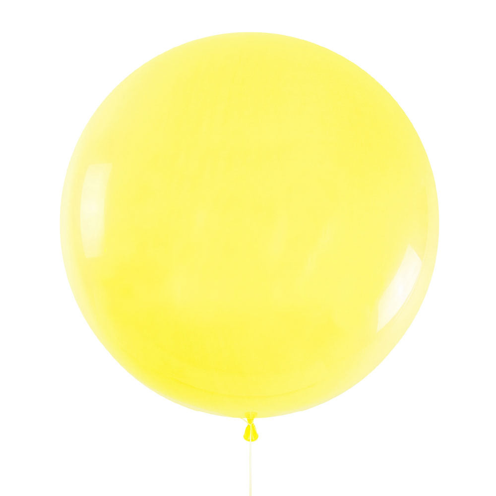 Yellow Jumbo Latex Balloon - 90cm - 3ft