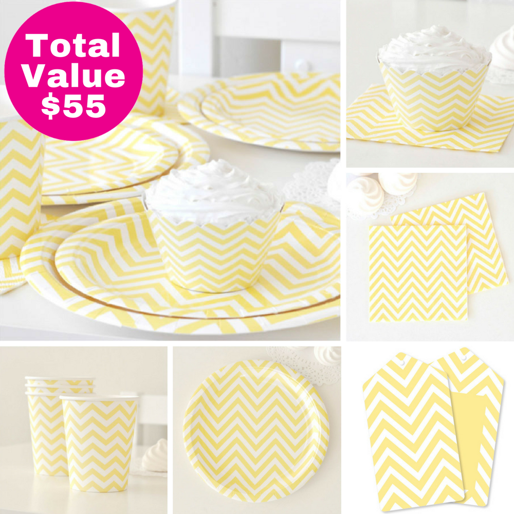 Yellow Party Saver Package - 12 Pack