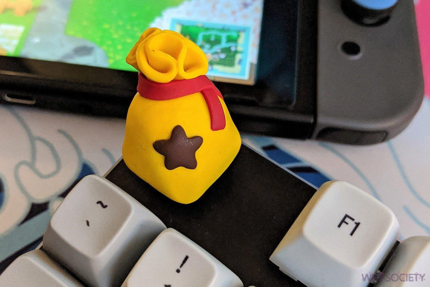 [B-GRADE] Animal Crossing Bell Bag Clay Artisan Keycap