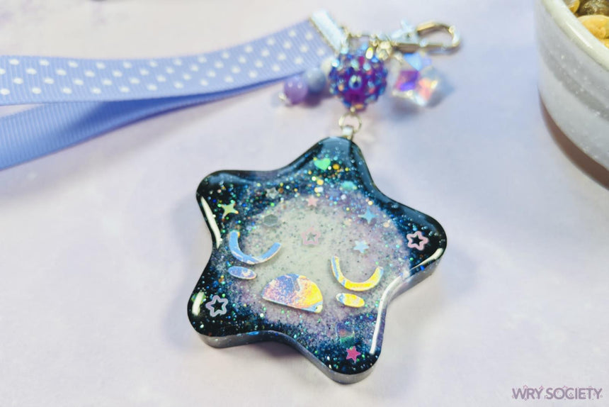 Sighing Space Star Resin Charm