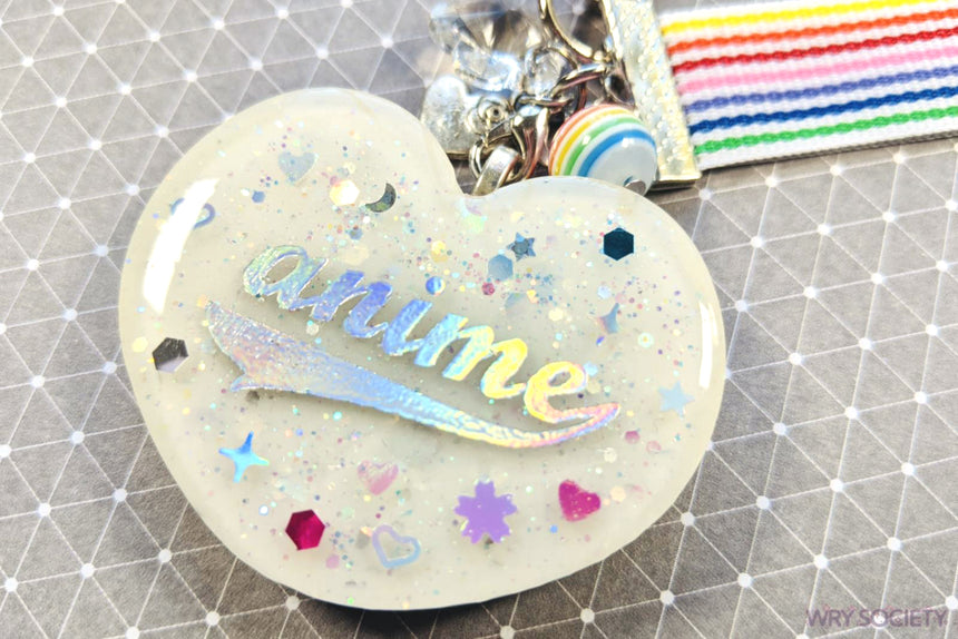 Rainbow Anime Lover Resin Charm w/ Wristlet