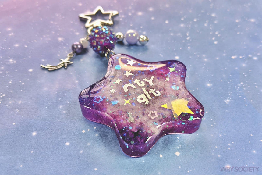 Galactic Purple NTY GLT Resin Charm