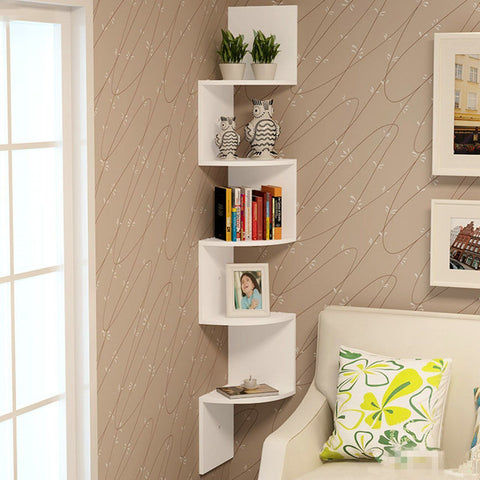 5 Tier Snaking Corner Wall Shelves
