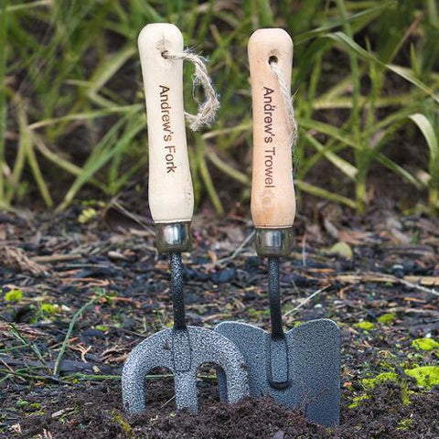 Personalised Garden Fork And Trowel Set