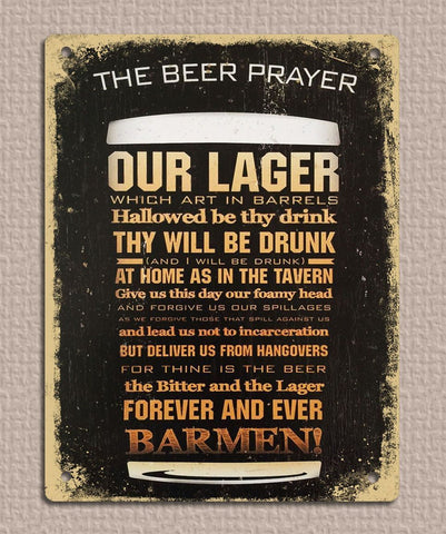 The Beer Prayer Plaque