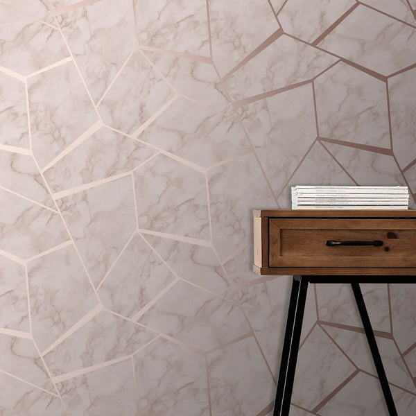 Marble & Rose Gold Wallpaper
