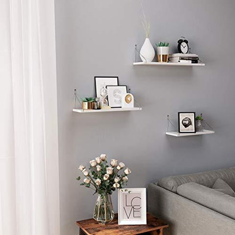 White Wall Shelves Set