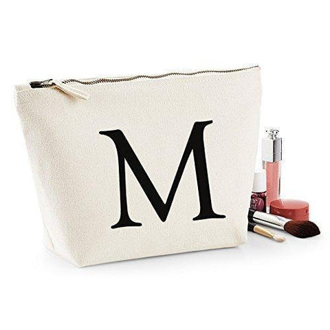 Personalised Custom Letter Wash Bag - 3 Sizes