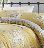 Ochre Spring Flowered Duvet