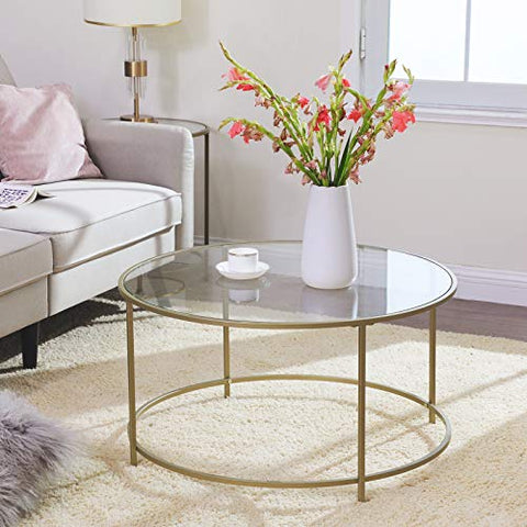 Golden Glass Coffee Table