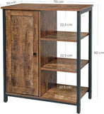 Rustic Brown Industrial Cabinet