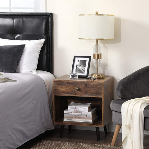 Rustic Industrial Bedside Table
