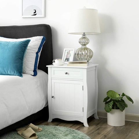 White Oxford Wooden Side Table