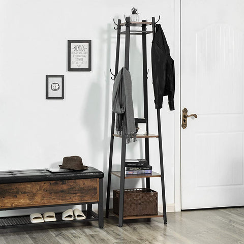 Slim Tapered Coat & Shoe Rack