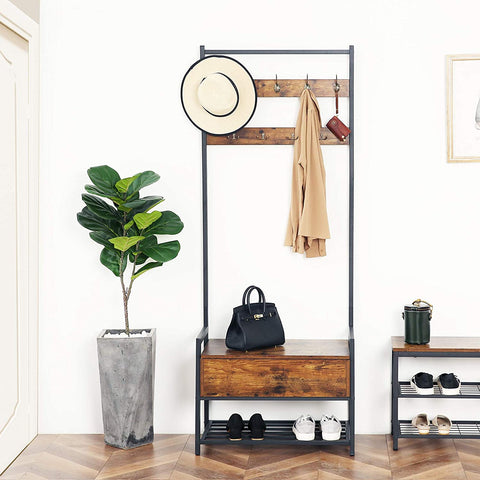 Coat Rack With Storage Cabinet