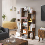 Freestanding Rustic Abstract Shelves