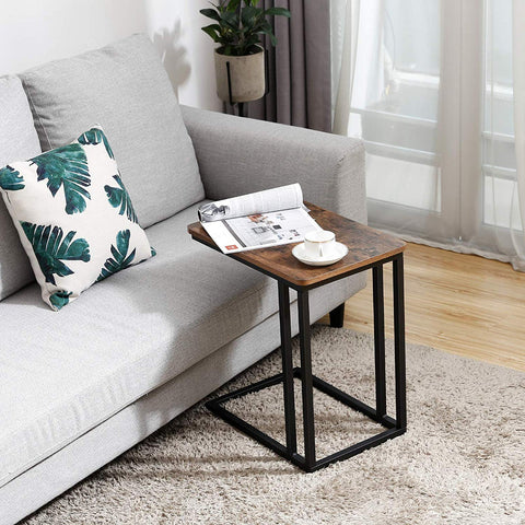 Rustic Brown Industrial End Table