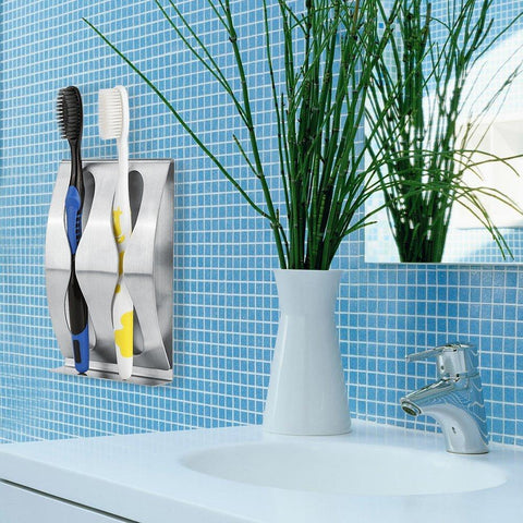 Wall Toothbrush Holder with Self-Adhesive Sticking