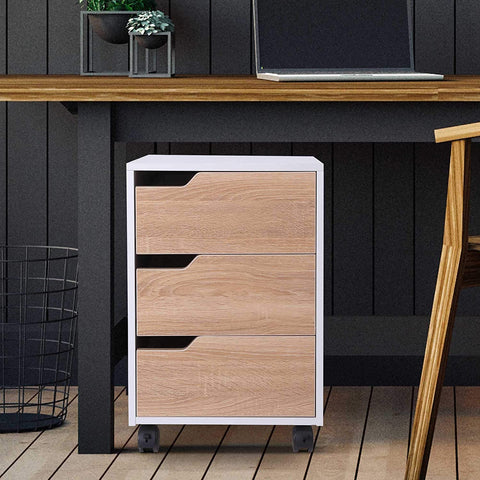 Scandi Mobile Cabinet with 3 Drawers