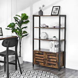 Rustic Industrial Cabinet with 3 Shelves