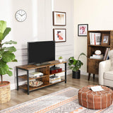 Rustic Brown Industrial TV Stand