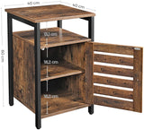 Rustic Brown Industrial Side Table