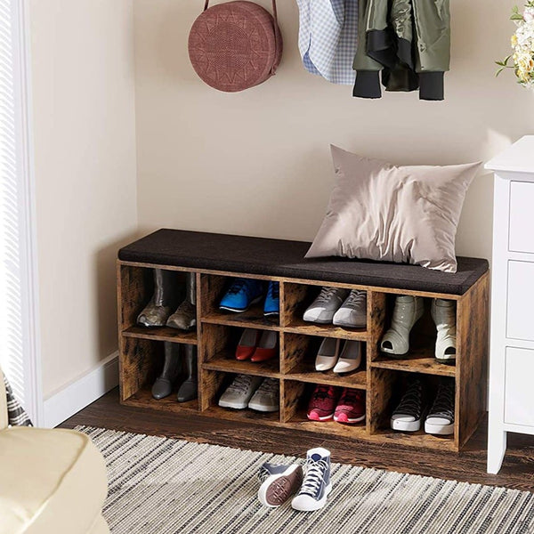Rustic Sintale Shoe Bench