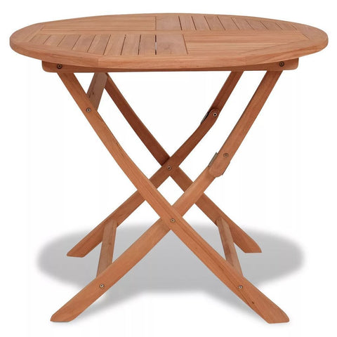 Solid Teak Round Outdoor Dining Table