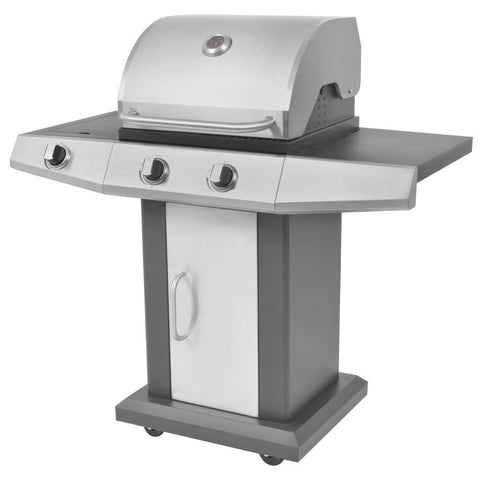 Black & Silver Gas Barbecue BBQ Grill 2 + 1 Burners