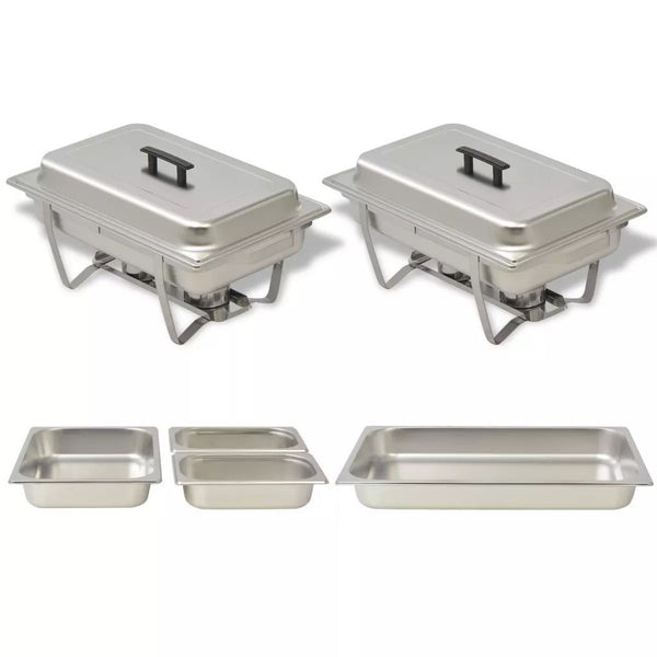 Two Piece Chafing Dish Set Stainless Steel