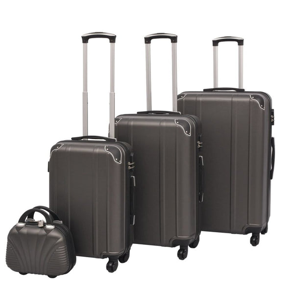 Anthracite Four Piece Hardcase Trolley Set