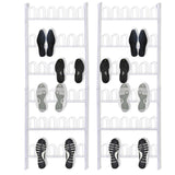 18 Pairs Shoe Racks - 2 pcs - Steel White