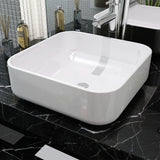 Ceramic White Basin Square - 38x38x13.5 cm
