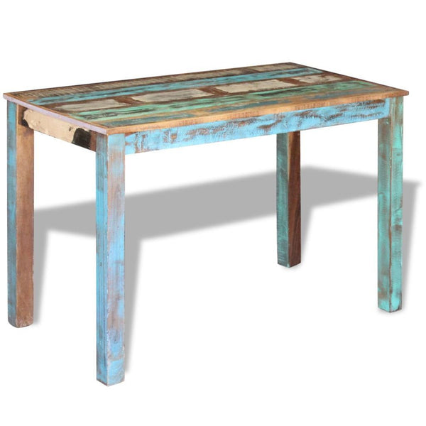Solid Reclaimed Wooden Dining Table - 115 x 60 x 76 cm