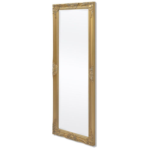 Gold Baroque Style Wall Mirror - 140 x 50 cm
